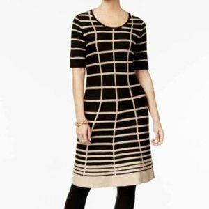NEW NY Collection Printed Sweater Dress Size MP